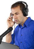 Male Voice Over Artist or Singer Stock Image