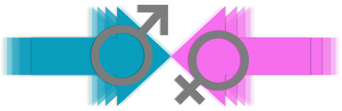 Male Vs Female Arrows Royalty Free Stock Photography