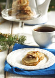 Male walnut cookies. And cup of tea Stock Image