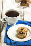 Male walnut cookies. And cup of tea Stock Photo