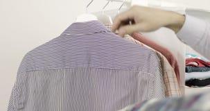 Male wardrobe. stock video