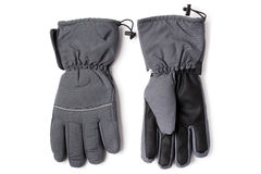 Male warm gloves. On white background Stock Images