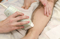 Male waxing Royalty Free Stock Photos