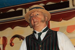 Male waxwork fairground/circus worker Royalty Free Stock Images