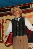 Male waxwork fairground/circus worker Royalty Free Stock Photography
