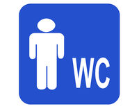 Male wc Stock Photo