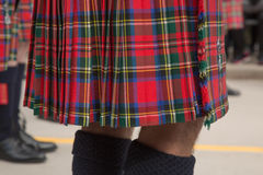 Male wearing kilt close up legs Stock Photo