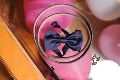 Male Wedding Accessories. On glass surface Royalty Free Stock Image