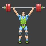 Male Weightlifter Royalty Free Stock Photo