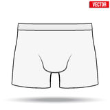 Male white underpants brief. Vector Illustration. Layout of Male white underpants brief. Sketch style. A template simple example. Editable Vector Illustration Stock Images