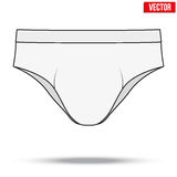 Male white underpants brief. Vector Illustration. Realistic layout of Male white underpants brief. Sketch style. A template simple example. Editable Vector Royalty Free Stock Photography