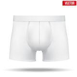 Male white underpants brief. Vector Illustration. Realistic layout of Male white underpants brief. A template simple example. Editable Vector Illustration Stock Images