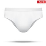 Male white underpants brief. Vector Illustration. Realistic layout of Male white underpants brief. A template simple example. Editable Vector Illustration Stock Photography