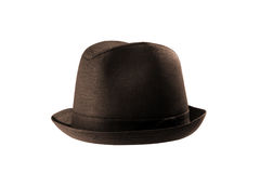 Male winter brown hat Stock Images