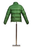 Male winter jacket. Isolated on the white Stock Images