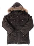 Male winter jacket. On the rack isolated on white Royalty Free Stock Images