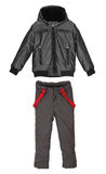 Male winter jacket and trousers Royalty Free Stock Photography