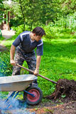 Male worker. Summer vibrant colors Royalty Free Stock Photography
