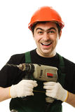 Male worker with an electric dril Stock Image
