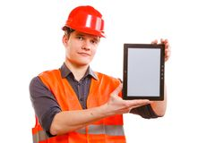 Male worker with tablet. Stock Photography