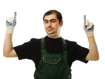Male worker with tools Royalty Free Stock Photography