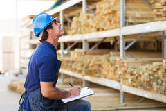 Male worker warehouse. Male worker working in warehouse Stock Photo