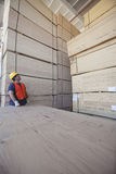 Male worker working in warehouse Stock Photo