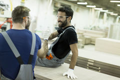 Male workers resting Royalty Free Stock Image