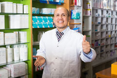 Male  working in chemist shop Stock Image