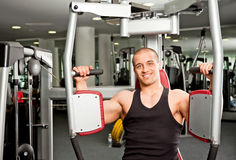 Male working out Stock Photography