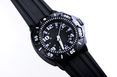 Male wristwatch. Close up of wristwatch on white background Royalty Free Stock Images