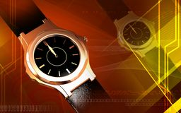 Male wristwatch running Stock Images