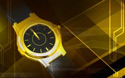Male wristwatch running Royalty Free Stock Image