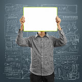 Male with write board in his hands Stock Image