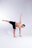 Male yoga model Royalty Free Stock Photography