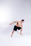 Male yoga model Stock Photo