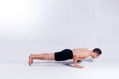 Male yoga model Stock Photo