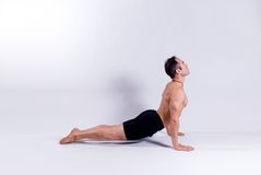 Male yoga model Stock Image