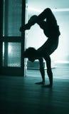 Man yoga handstand Stock Image