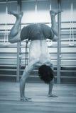 Man yoga handstand Royalty Free Stock Photo