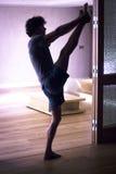 Man yoga stretching splits Stock Image