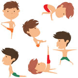 Male yoga vector collection. Stock Image