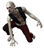 Male zombie. 3D render of a spooky zombie man royalty free illustration