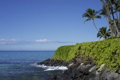 Malecón en Maui Fotos de archivo libres de regalías
