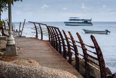 Malecón quebrado Imagen de archivo
