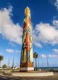 Malecon街,多米尼加共和国 库存照片