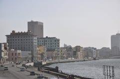 Malecon,哈瓦那,古巴的视图 免版税库存照片