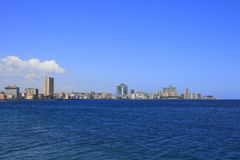 The Malecon. In Havana, Cuba Royalty Free Stock Photo