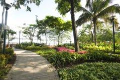Malecon 2000 guayaquil ecuador. Garden seaside malecon 2000 park and pedestrian walkway guayaquil eduador south america river front rio guayas Stock Photos
