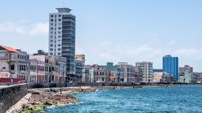 哈瓦那古巴Malecon地平线 库存图片